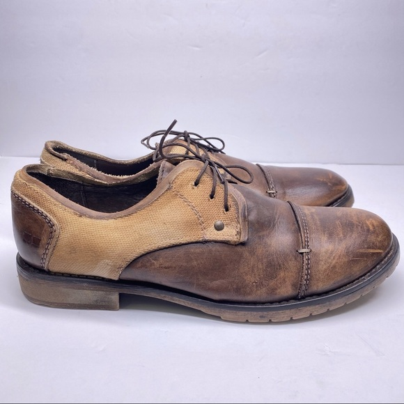 Bed Stu Leather Oxford Lace Up Shoes
